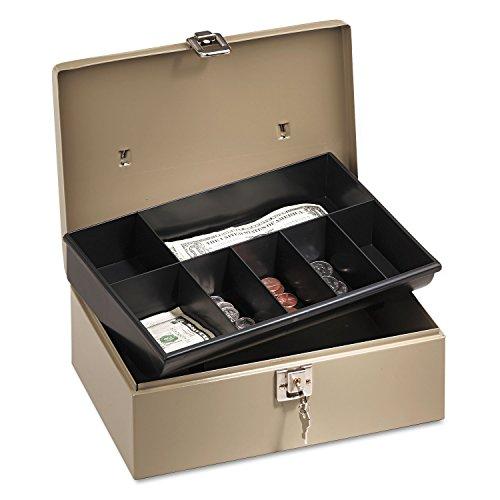 PMC04963 - Lockn Latch Steel Cash Box w/7 Compartments