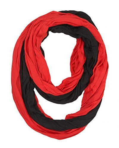 Game-Day-College-Pro-High-School-Team-Infinity-Circle-Scarf-Red-Black