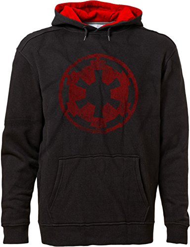BSW Men's Star Wars Imperial Crest Empire Logo Sith Lord Hoodie LRG Blk/Red Blk Hoodie