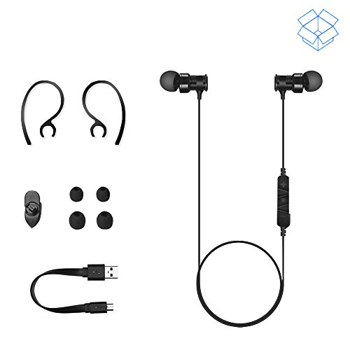 bluetooth headphones sowak s3 wireless 4 1 headset noise cancelling magnetic. Black Bedroom Furniture Sets. Home Design Ideas