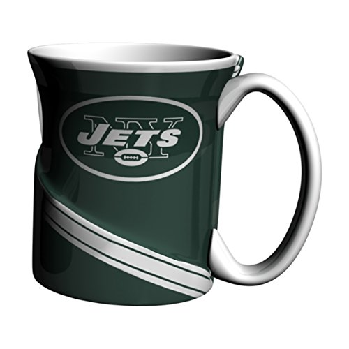 - NFL New York Jets Sculpted Twist Mug, 18-ounce