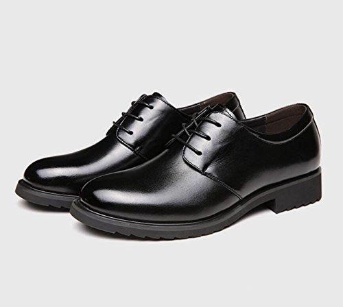 GRRONG Chaussures En Cuir Pour Hommes D'affaires Respirant Loisirs Black VcEL3Po0Rs