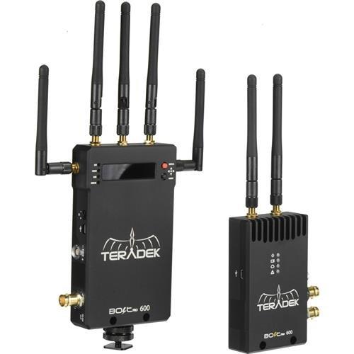 Teradek Bolt Pro 600 TX/RX SDI Wireless Video Transceiver Set, 19dbm EIRP (Transmitter) / 17dbm EIRP (Receiver) RF Power, 48kHz 24-bit PCM by Teradek