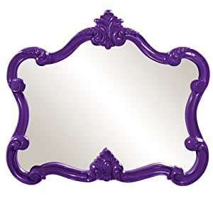 Howard Elliott 56033 Veruca Rectangular Mirror, 28 x 32-Inch, Glossy Purple Lacquer