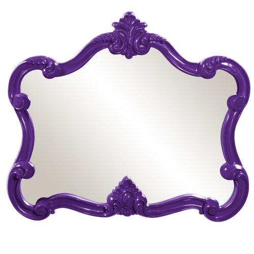 Howard Elliott 56033 Veruca Rectangular Mirror, 28 x 32-Inch, Glossy Purple Lacquer by Howard Elliott Collection
