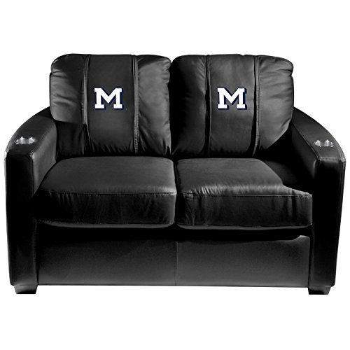 XZipit College Silver Loveseat with Colorado School of Mines M Logo Panel, Black