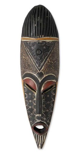 Amazon.com: Novica decorativo grande de madera máscara ...