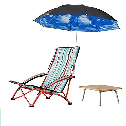 - SHARESUN Outdoor Folding Beach Chair, Mini with armrest Cup Holder Umbrella Portable Low Sitting Back Fishing Chair, for Camping Picnic Barbecue Garden Sketch, with Storage Bag,B,XS