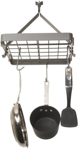 Rack It Up Square Ceiling Pot Rack, Steel Gray
