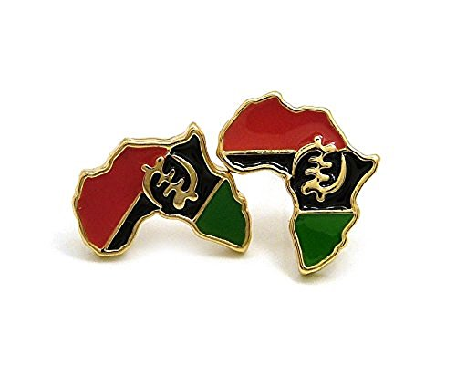 Pan Africa Stud Micro Earrings in Gold-Tone, Gye ()