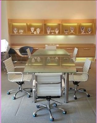 Modern Tempered Glass Conference table 12' by 4'