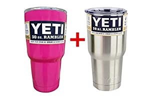 Yeti Pack Of 2 Rambler Tumbler Cups, 30 oz, Pink And Stainless Steel