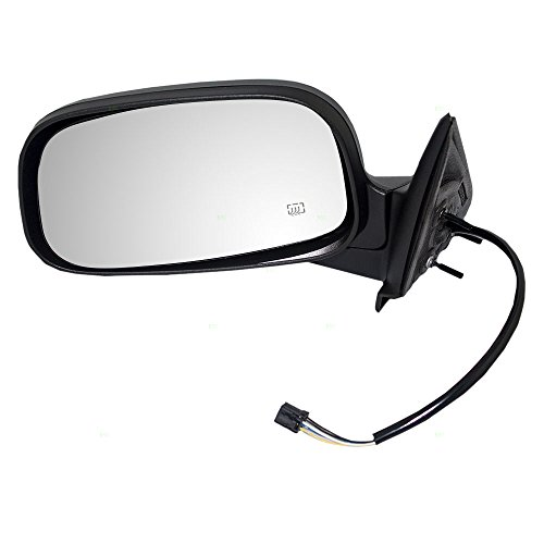 Drivers Power Side View Mirror Heated Textured Replacement for Dodge SUV Pickup Truck 55077252AE AutoAndArt