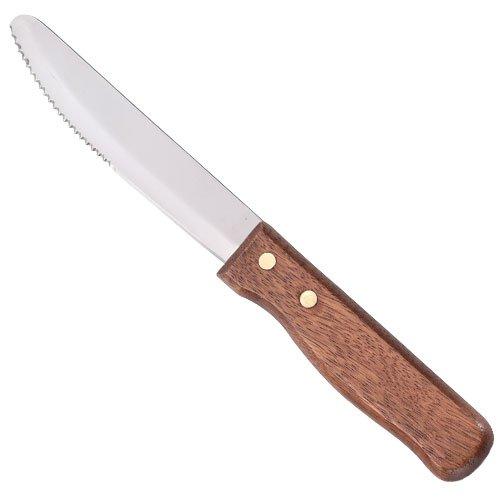 UTICA II Jumbo Good Steak Knife with Hardwood Handle - 12 per case.