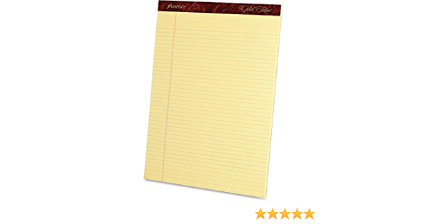 Ampad 20022 Perforated Pads,Narrow,50 Shts,8-1//2-Inch x11-3//4-Inch,Canary