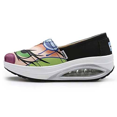 Chaussures De Mode De La Mode Des Femmes Glissent Sur Des Baskets De Base De Softthick Voyagent Des Chaussures Occasionnelles Par Btrada Bleu