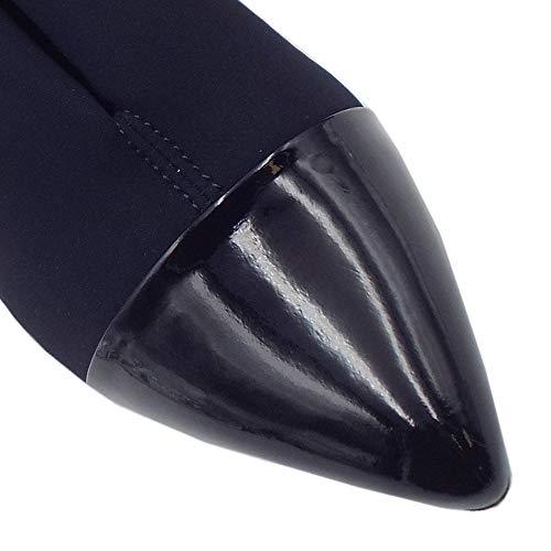 Noemita Brevetto Stretch Peter Mid Scarpe Tacco In Notte Patent Scarpa Kaiser Punta fnBnFp6