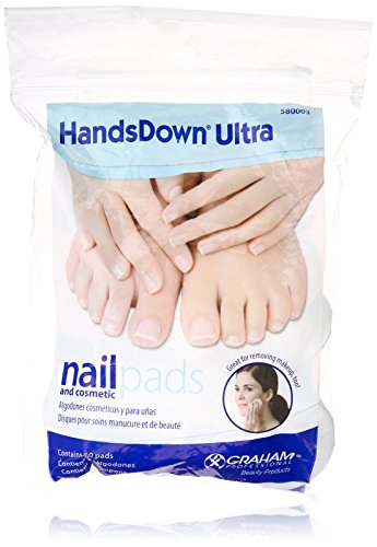 Graham Hands Down Ultra Nail and Cosmetic Pads, 60 Count (Hands Down Ultra Nail)