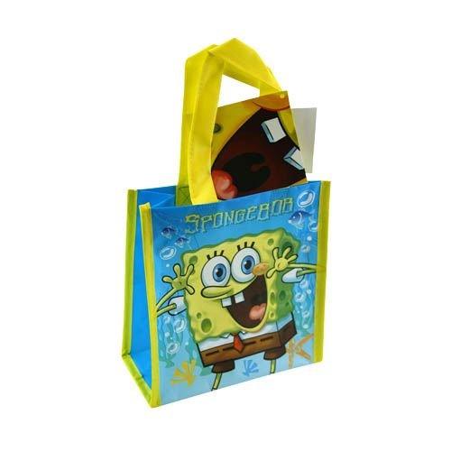 Woven Mini Labels - 12-Pack SpongeBob SquarePants Non-Woven Mini Party Tote Bags