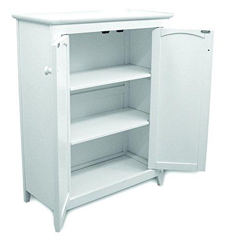 Catskill Craftsmen Double Door Kitchen Cabinet, White - bedroomdesign.us