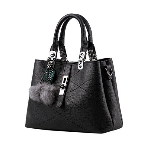 Bag Feixiang Donna Crossbody Catena A Spalla Borse Borsa Feixiang® Elegante  In Brose Nero Donne Pelle ... 505cd38a863
