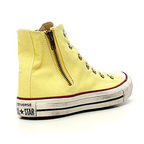 Yello Side Tessuto Hi Zip Chuck All Taylor Converse 41 Sneakers Star Linden wBqIv68S