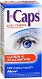 ICAPS Lutein & Zeaxanthin Eye Vitamin & Mineral Supplement Tablets - 120 Tablets, Pack of 6