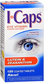 ICAPS Lutein & Zeaxanthin Eye Vitamin & Mineral Supplement Tablets - 120 Tablets, Pack of 6 by ICaps