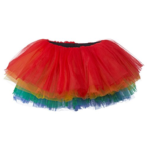 My Lello Big Girls 10-Layer Short Ballet Tulle Tutu Skirt (4T-10yr) -Primary -
