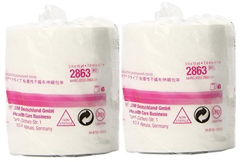 3m 2863 Medipore H Soft Cloth Surgical Tape 3'' x 10 Yards - 2 Rolls by 3M