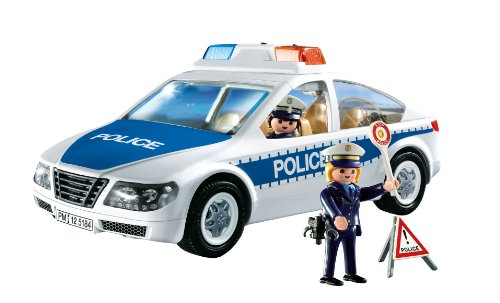 playmobil police car with flashing light import it all. Black Bedroom Furniture Sets. Home Design Ideas
