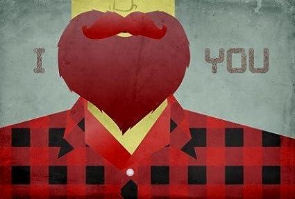 I barba por beardy//Único, Original Arte de la pared//11,7 x 16,5 cm ...