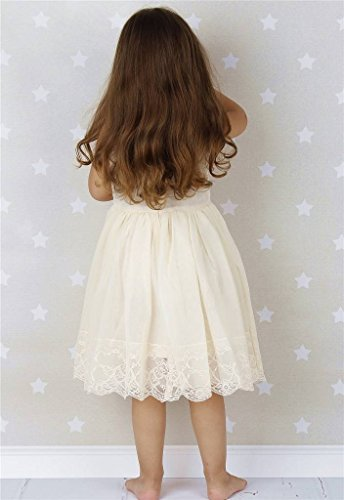 Bow Dream Lace Vintage Flower Girl's Dress Ivory 12 by Bow Dream (Image #3)