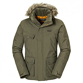 437d2761187 Jack Wolfskin Nova Scotia Jacket Men - burntolive Größe XXL: Amazon ...