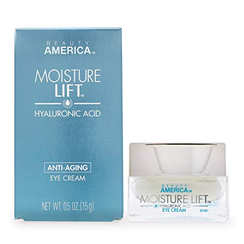 Beauty America Moisture Lift, Anti-Aging, Hyaluronic Acid Eye Cream, 0.5 Oz