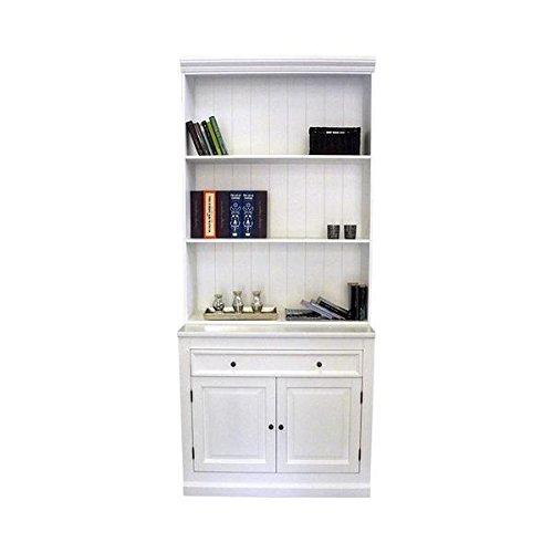 Bücherregal PLATON weiß B100cm Pinie Massivholz