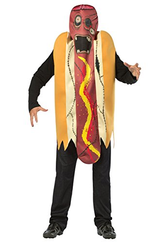 Rasta Imposta Zombie Hot Dog, Multi, One (Hot Dog Vendor Halloween Costume)