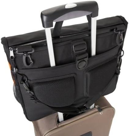 Amazon Com Bbp Hamptons Hybrid Messenger Backpack Laptop Bag Obsidian Black Large Computers Accessories