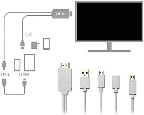 Cable de teléfono a televisor Acnacy, cable micro de 2 m de USB a HDMI, cable de HML a HDMI 1080P, cable adaptador HDTV para Samsung Galaxy, Galaxy S5/S4/S3/Note 3, Galaxy Tab