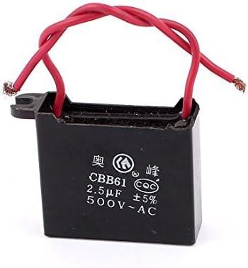 CBB61 AC500V 2.5uF rectangular Ventilador de techo capacitor ...