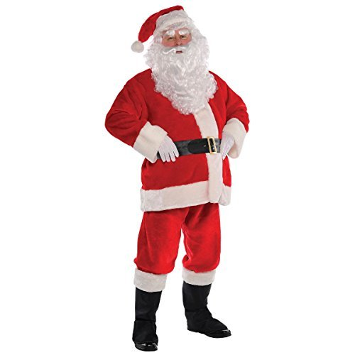 Amscan Red Plush Santa Suit - XXX-Large (Up to 58