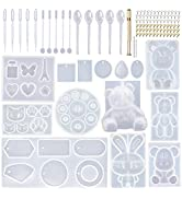 EuTengHao 132Pcs Animal Silicone Molds DIY Resin Casting Molds Kit Contains 4 Bears Resin Molds 3...