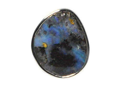 Australien Boulder Opal-Bague Femme-Argent 925/1000-Taille M-(bor3011161)-Boîte Cadeau