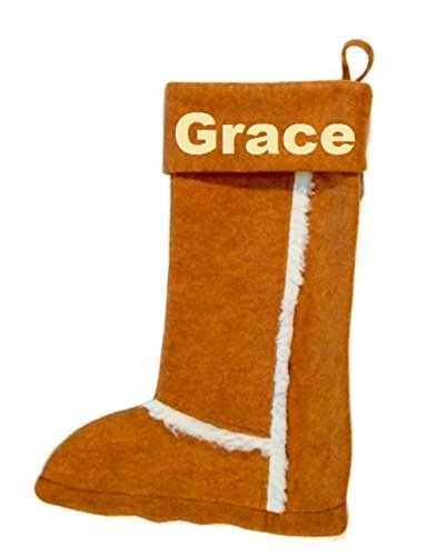 Winter boot stocking with FREE embroidered -