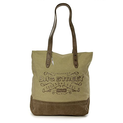 Imppac - Canvas Shoulder Bag For Woman Brown Wood Brown