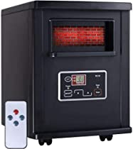 1500W Electric Portable Infrared Quartz Space Heater Remote Black New Stratacapital
