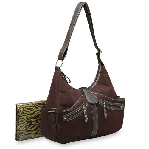 Carter's Out N About Hobo Style Diaper Bag in a Faux Suede Brown New ()