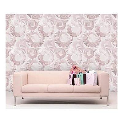 Marvelous Visual, That's 100% USA Made, Large Wall Mural Abstract Semi Circles Vinyl Wallpaper Removable Decorating
