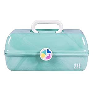 Caboodles On-the-Go Girl Sea Foam Marble Vintage Case, 1 Pound