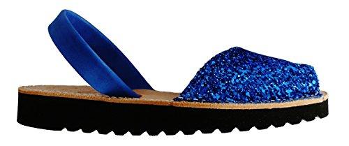 forme glitter Plate avarcas Avarcas menorquínas Glitter coin 2 azul 5 Menorquinas cm REaq6Tw